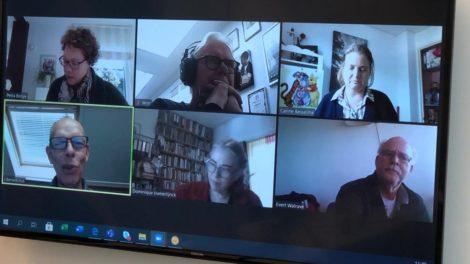 6 studenten in gesprek via Zoom voor EUPATI NL