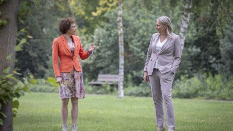 Petra Borsje en Gerda Weits in gesprek over samenwerking